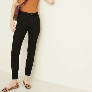 ON Mid-Rise Black Rockstar Super Skinny Jeans